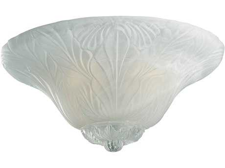 Monte Carlo Fans Leaf Bowl Adapter White Faux Alabaster