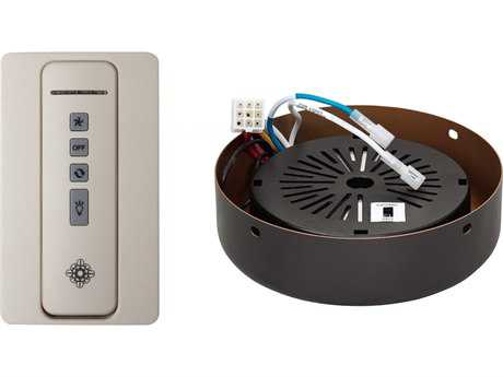 Monte Carlo Fans Almond NEO Hand Held Remote Control Transmitter Receiver & Roman Bronze Receiver Hub