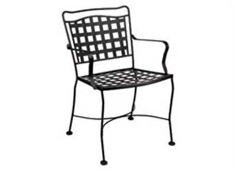Meadowcraft Vera Cruz Wrought Iron Dining Arm Chair  PatioLiving