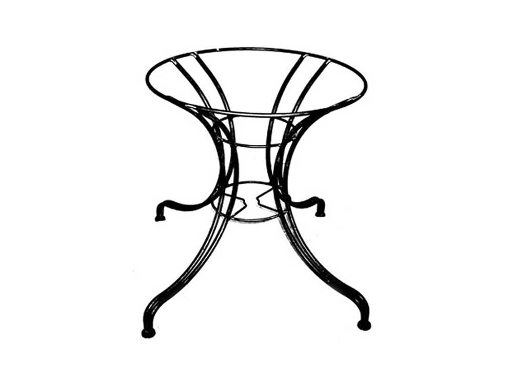 Meadowcraft wrought iron 800 series table base md180051001 for Outdoor table bases wrought iron