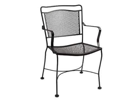 Meadowcraft Cahaba Wrought Iron Dining Chair - Price Includes 2 Chairs