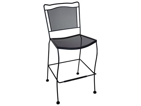Meadowcraft Cahaba Wrought Iron Metal Bar Stool