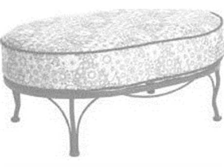 Meadowcraft Athens Wrought Iron Cuddle Ottoman PatioLiving