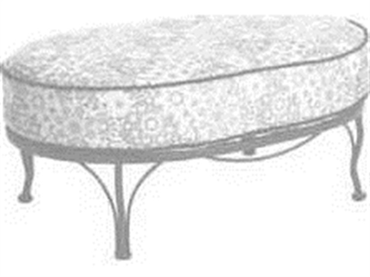 Meadowcraft Athens Wrought Iron Cuddle Ottoman