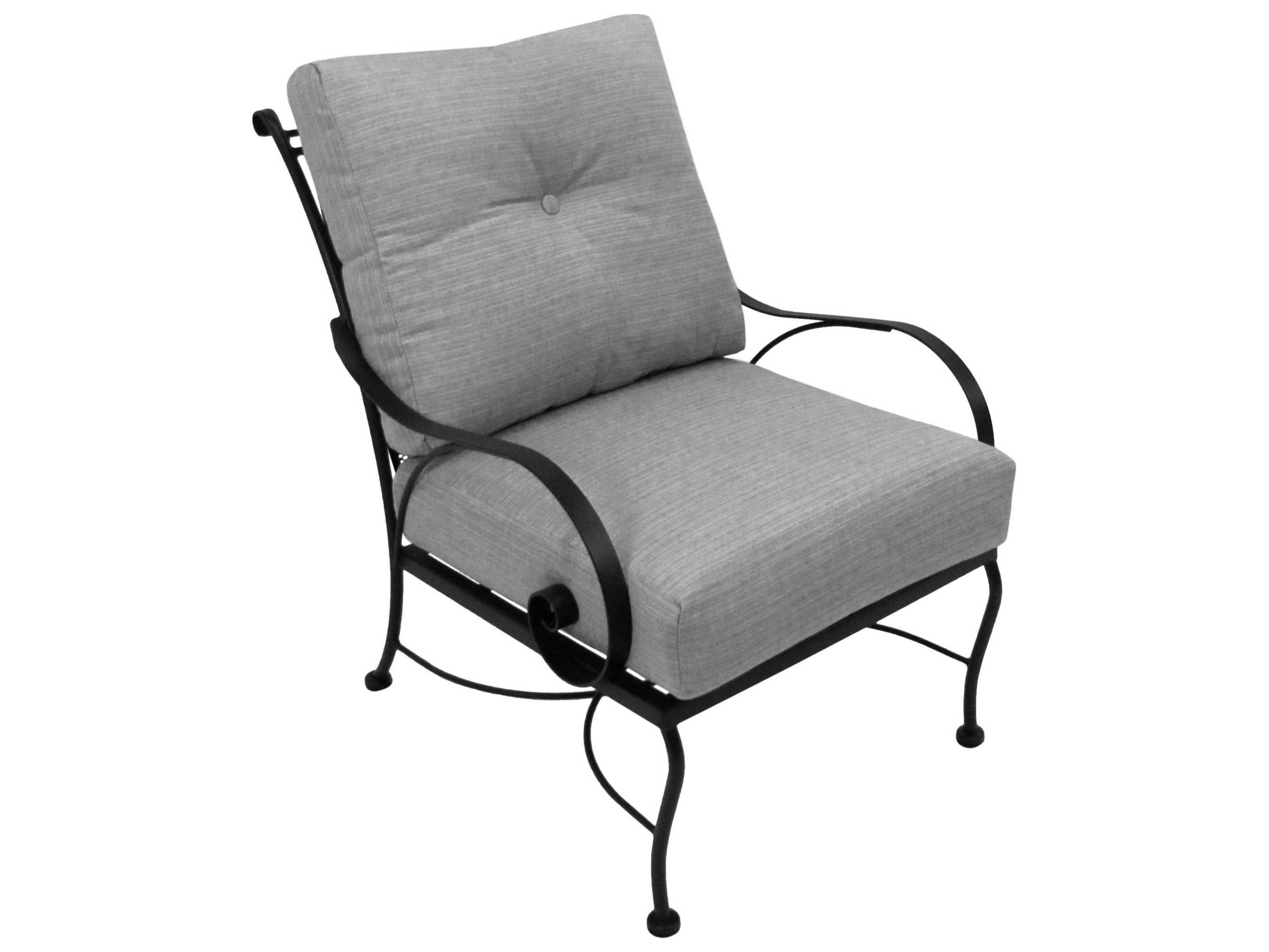 wrought iron chairs meadowcraft monticello wrought iron seated club chair 31263