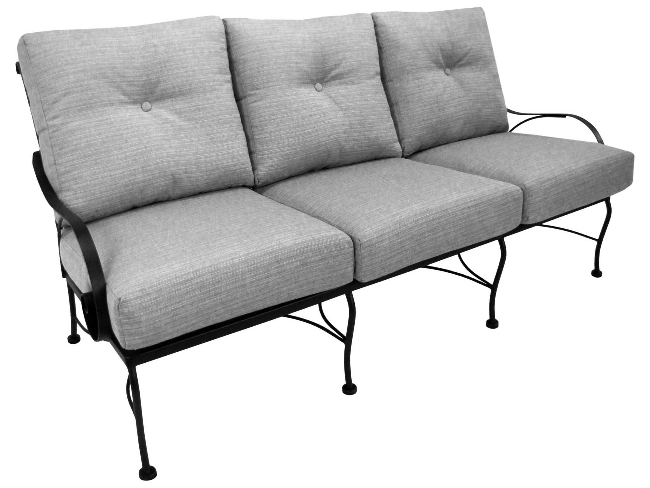 Meadowcraft Monticello Wrought Iron Deep Seating Sofa