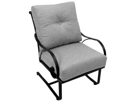 Meadowcraft Monticello Deep Seating Wrought Iron Spring Lounge Chair