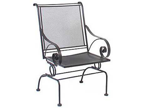 Meadowcraft Monticello  Wrought Iron Spring Dining Chair - Price Includes 2 Chairs PatioLiving