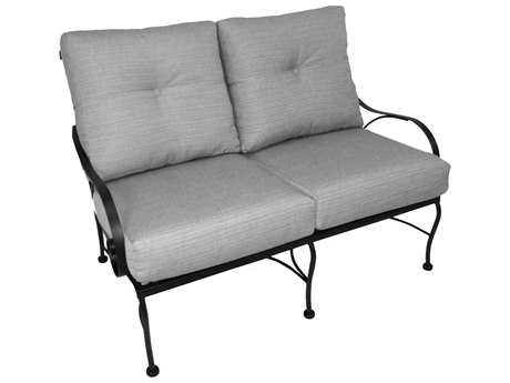 Meadowcraft Monticello Wrought Iron Deep Seating Loveseat
