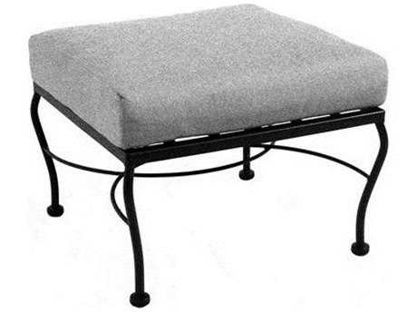 Meadowcraft Monticello Wrought Iron Deep Seating Ottoman PatioLiving