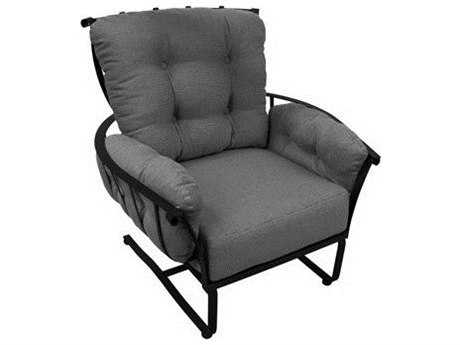 Meadowcraft Vinings Wrought Iron Spring Lounge Chair