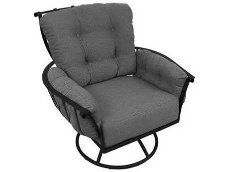 Meadowcraft Vinings Deep Seating Wrought Iron Swivel Rocker Lounge Chair