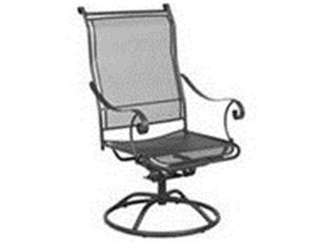Meadowcraft Alexandria Wrought Iron Swivel Rocker Dining Chair PatioLiving