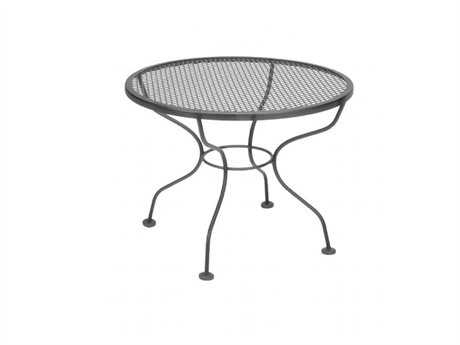 Meadowcraft Wrought Iron 24 Round Micro Mesh Cocktail Table
