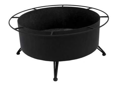 Meadowcraft Wrought Iron Large Wood Burning Fire Pit
