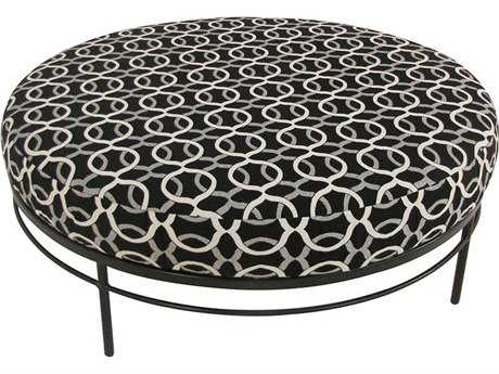 Meadowcraft Cove Wrought Iron 42 inch Ottoman