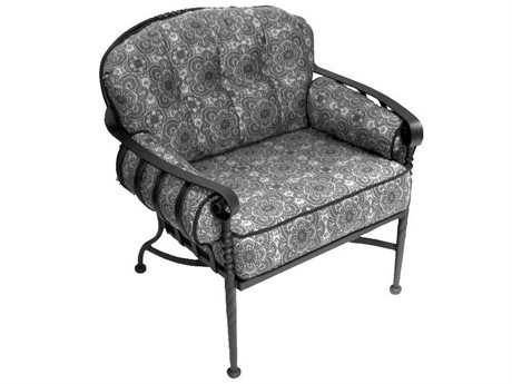 Meadowcraft Athens Wrought Iron Deep Seating Lounge Chair