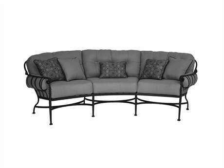 Athens Deep Seating Wrought Iron Crescent Sofa