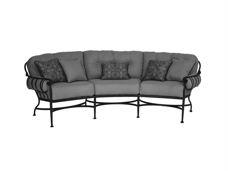 Meadowcraft Athens Wrought Iron Crescent Sofa