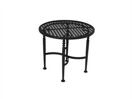 Meadowcraft Athens Wrought Iron 25''Wide Round End Table
