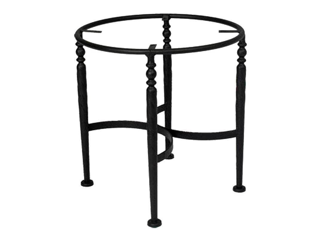 Meadowcraft athens wrought iron end table base 3612370 01 for Side table base