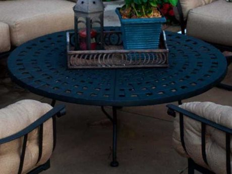 Meadowcraft Athens Wrought Iron 50 x 31 Oval Coffee Table PatioLiving