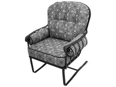 Meadowcraft Athens Deep Seating Wrought Iron High Back Spring Lounge Chair