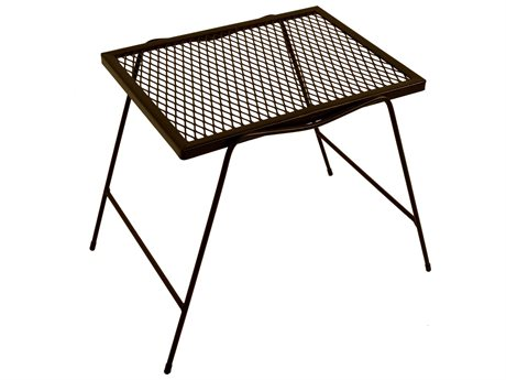 Meadowcraft Wrought Iron 22'' Wide Square Stacking End Table