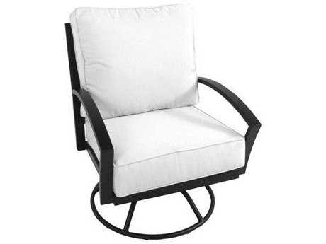 Meadowcraft Maddux Wrought Iron Swivel Rocker Lounge Chair