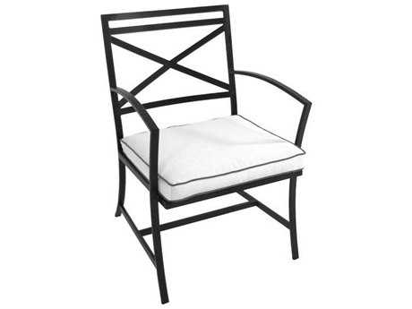 Meadowcraft Maddux Wrought Iron Dining Arm Chair