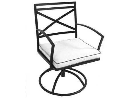 Meadowcraft Maddux Wrought Iron Swivel Dining Arm Chair