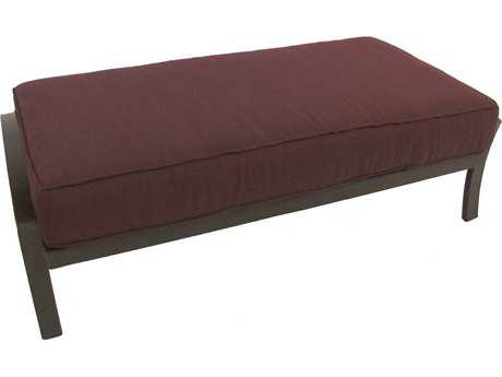 Meadowcraft Maddux Wrought Iron Large Bench Ottoman