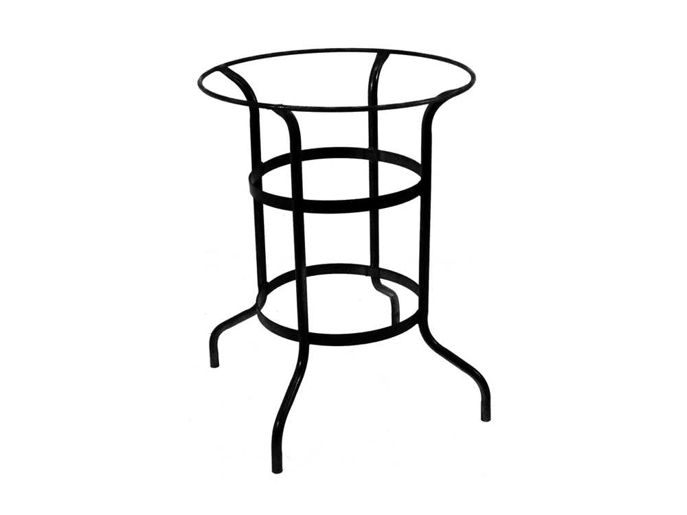 Meadowcraft wrought iron counter height table base for Wrought iron table legs bases