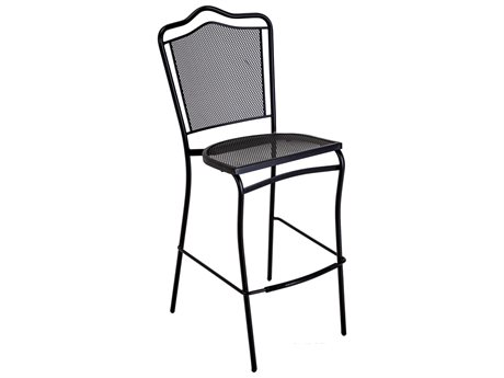 Meadowcraft Commercial Wrought Iron Boardwalk Bar Stool