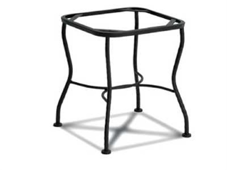 Meadowcraft Table Wrought Iron End Table Tube Base