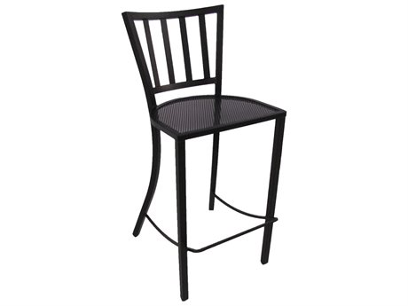 Meadowcraft St. Simons Wrought Iron Bar Stool