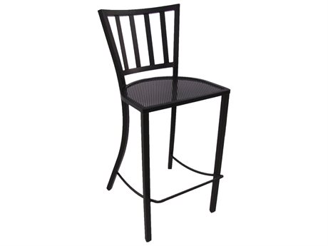 Meadowcraft Wrought Iron Metal Bar Stool