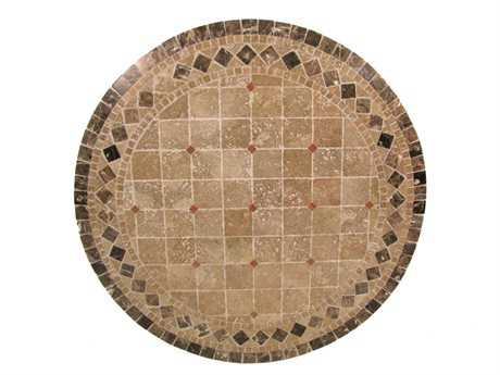 Meadowcraft 36 Round Travertine Stone Top