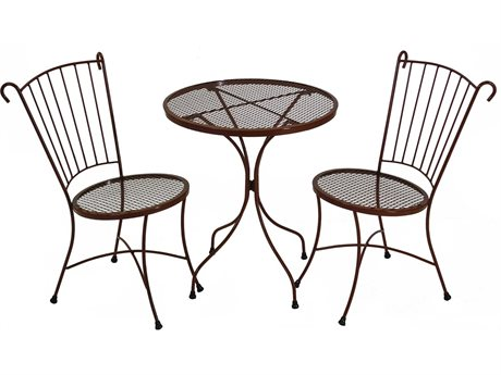 Meadowcraft Madison Wrought Iron Three Piece Dining Set
