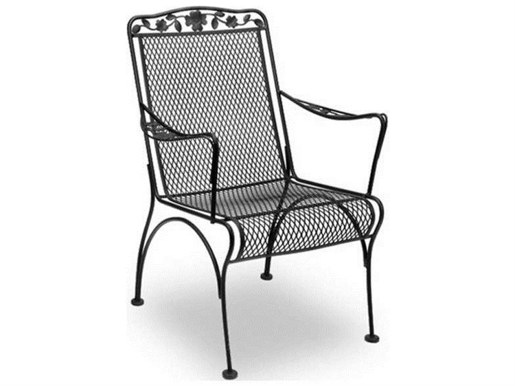 Meadowcraft Dogwood Wrought Iron Dining Arm Chair PatioLiving