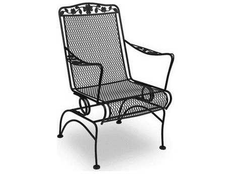 Meadowcraft Dogwood  Wrought Iron Coil Spring Dining Chair - Price Includes 2 Chairs