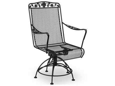 Meadowcraft Dogwood  Wrought Iron Swivel Rocker Dining Arm Chair