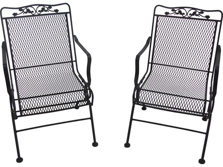 Meadowcraft Glenbrook Wrought Iron Glider Lounge Chair (Set of 2)