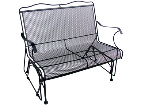Meadowcraft Jackson Wrought Iron Glider Loveseat