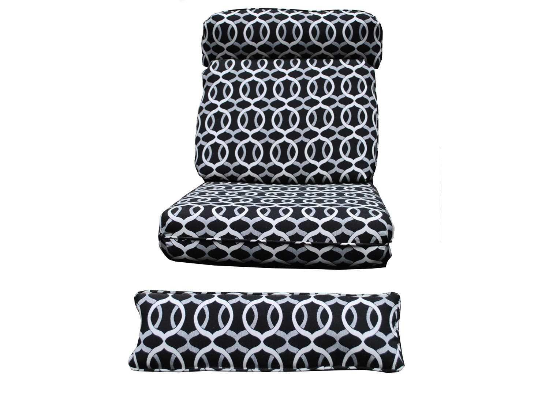 Meadowcraft barcelona deep seating recliner cushion set 8862 01 - Deep seat patio cushions replacements ...