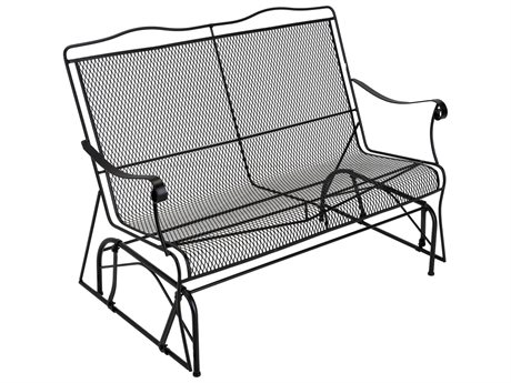 Meadowcraft Barton Wrought Iron Glider Loveseat