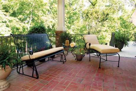 Meadowcraft Alexandria Wrought Iron Lounge Set