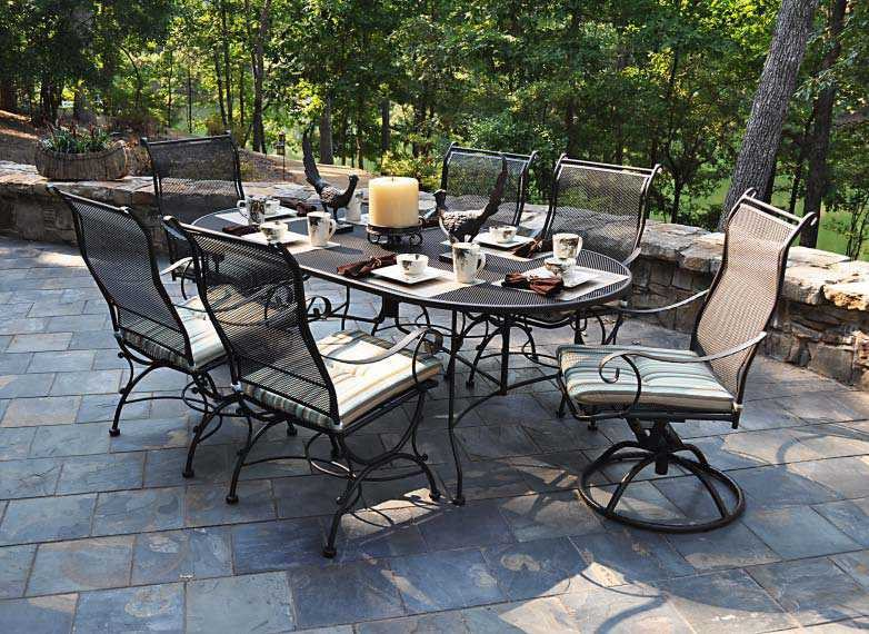 Meadowcraft Alexandria Wrought Iron Dining Set Aledsd