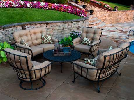 Meadowcraft Vinings Deep Seating Wrought Iron Lounge Set
