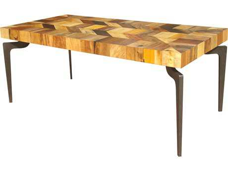Moe's Home Collection Gajel 72'' x 36'' Rectangular Natural Dining Table with Metal Legs